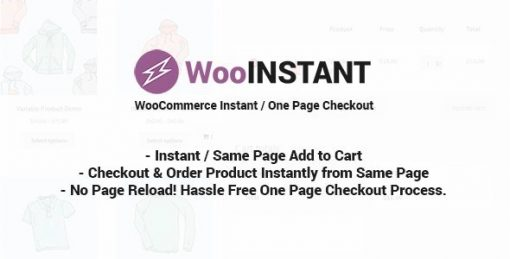 WooInstant WooCommerce Instant Checkout