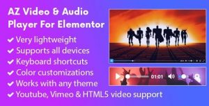AZ Video and Audio Player Addon for Elementor