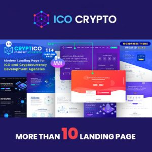 Cryptico – ICO Crypto Landing & Cryptocurrency WordPress Theme​