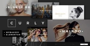 Curly – A Stylish Theme for Hairdressers and Hair Salons