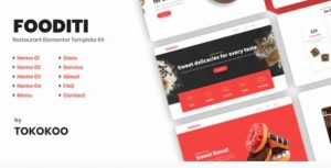 Fooditi   Restaurant and Cafe Elementor Template Kit