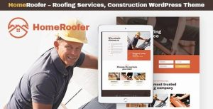 HomeRoofer | Roofing Company Services & Construction WordPress Theme