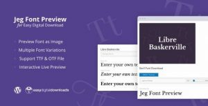 Jeg Font Preview – Easy Digital Downloads Extension