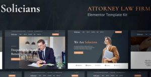 Solicians – Attorney Law Firm Elementor Template Kit