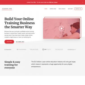 StudioPress Academy Pro Genesis WordPress Theme