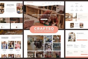 Craftso - Crafting Elementor Template Kit