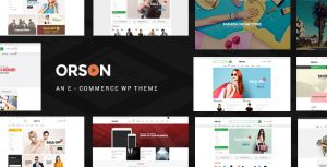 Orson - Innovative Ecommerce WordPress Theme for Online Stores
