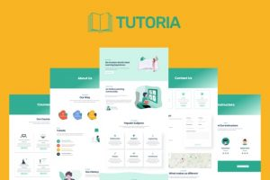 Tutoria - Education & Online Courses Elementor Template Kit