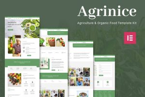 Agrinice - Agriculture and Organic Food Elementor Template Kit