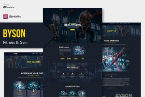 Byson - Fitness & Gym Elementor Template Kit