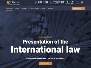 Libero - Lawyer and Law Firm WordPress Theme