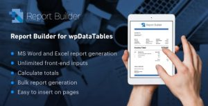 Report Builder add-on for wpDataTables