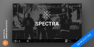 Spectra - Continuous Music Playback WordPress Theme