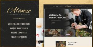 Alanzo | Personal Chef & Catering WordPress Theme