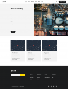 Sanat - Industry Elementor Template Kit